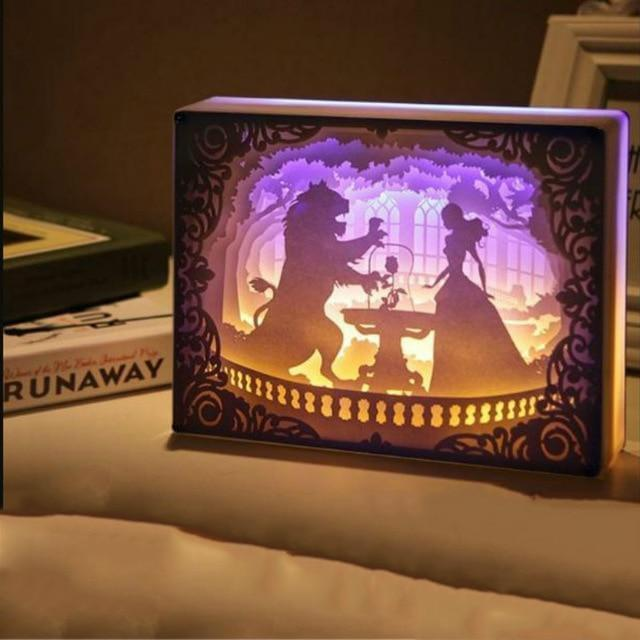 Novelty Night Light Totoro Paper-cut 3D Lamp - Gift Canadian