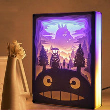 Load image into Gallery viewer, Novelty Night Light Totoro Paper-cut 3D Lamp - Gift Canadian