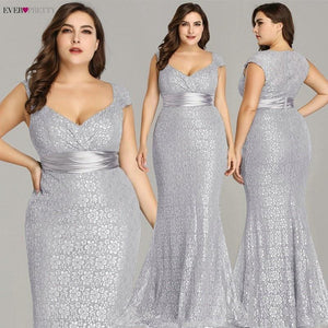 Plus Size Elegant Mermaid Lace Party Gowns - Gift Canadian