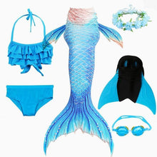 Load image into Gallery viewer, Mermaid Swimming Dress For Girls - Gift Canadian