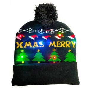 Led Christmas Hat - Gift Canadian