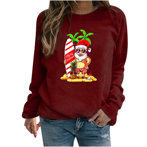Santa Claus Hoodies Women Sweatshirt - Gift Canadian