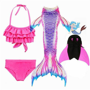 Mermaid Swimming Dress For Girls - Gift Canadian