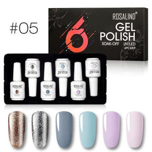 ROSALIND 6Pcs 15ml Gel Nail Polish - Gift Canadian