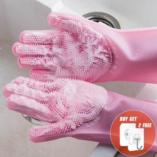 Silicone Dish Washing Cleaning Gloves - Gift Canadian
