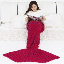 Load image into Gallery viewer, Soft Knitted Mermaid Tail Sleeping Blanket - Gift Canadian