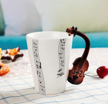 Load image into Gallery viewer, Violin Style Guitar Ceramic Mug - Gift Canadian