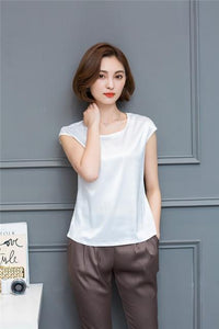 Women Casual Silk Summer Loose Tops - Gift Canadian