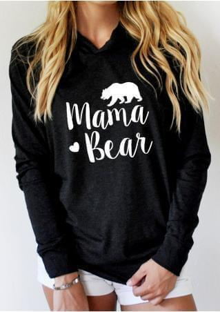 Womens Mama Bear Sweatshirt Long Sleeve Pullover Casual - Gift Canadian