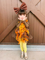 Faux Multi-color Feather Turkey Romper