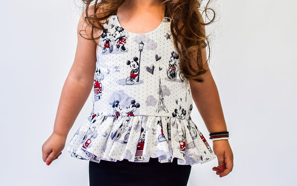 Minnie & Mickey Lovers Ruffled Halter Top