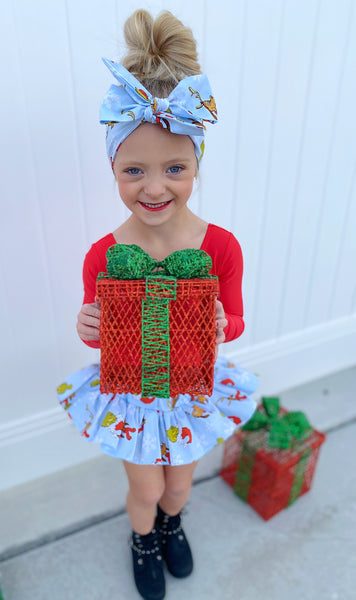 Blue GRINCH Bloomer Skirt