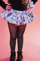 Pink Black Gold Hearts VALENTINES Bloomer Skirt