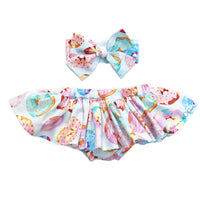 Rainbow Donuts Bloomer Skirt
