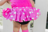 Med Pink Polka Dot Bloomer Skirt