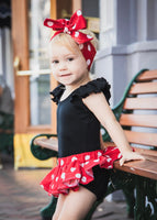 Lrg Red Polka Dot Bloomer Skirt