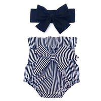 Tiny Black Stripe High Waisted Bloomers