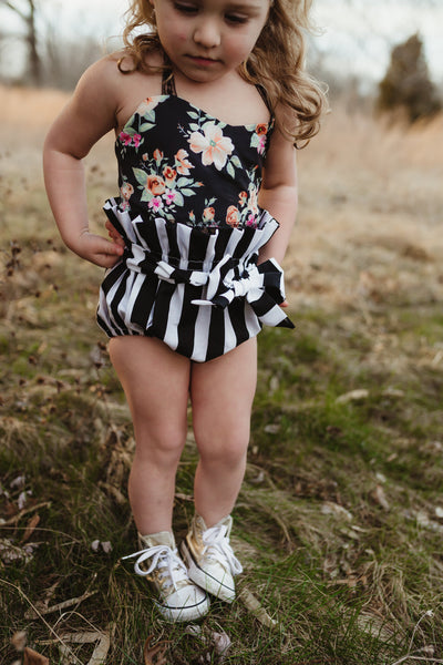 Black Stripe High Waisted Bloomers