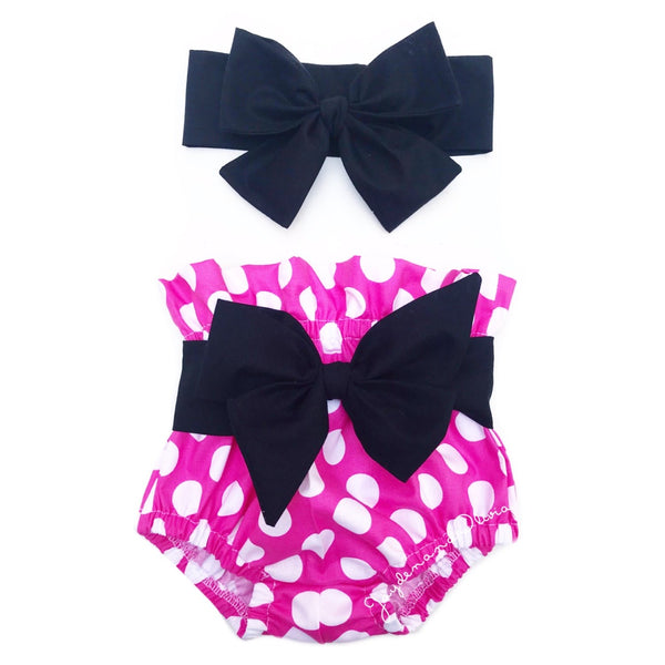 Hot Pink Polka Dot High Waisted Bloomers