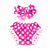 Hot Pink Polka Dot WHITE Pom Pom Shorties