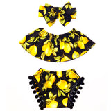 Black Lemon Pom Pom Shorties