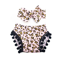 Blush Gold Cheetah Pom Pom Shorties