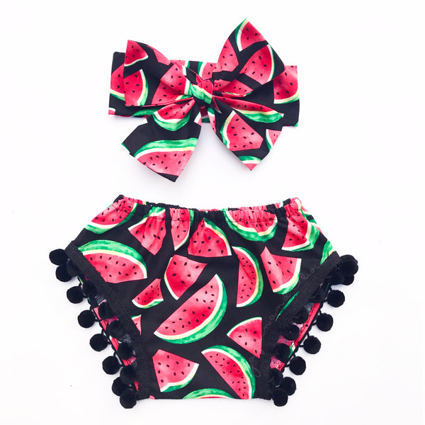 Watermelon Pom Pom Shorties