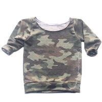 Washed Out Camo Sweater