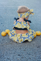 Lemon Stripes Baby Doll Top