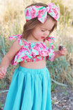 Blue Watermelon Baby Doll Top