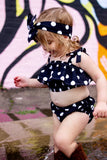 Black Polka Dot Baby Doll Top