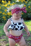 Cow Print Baby Doll Top