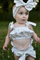 Arctic White Baby Doll Top