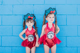 Thing 1 Thing 2 Glitter Hair Head Band