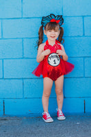 Dr. Seuss THING 1 inspired Romper