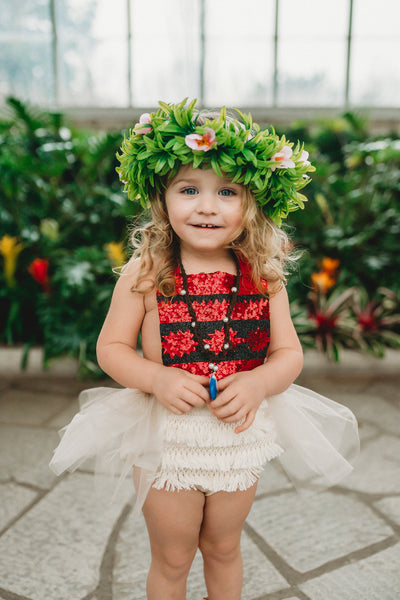 Moana inspired Princess Romper