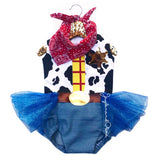 "Royal Blue ""Woody"" Toy Story Inspired Romper"
