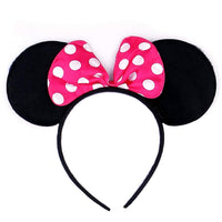 Hot Pink Polka Dot Minnie Ears Head Band