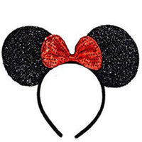 Red Sequins Minnie Ears Head Band