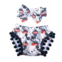 Classic Mickey & Minnie Squares Pom Pom Shorties