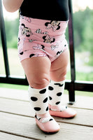 High Waisted Baby Pink Minnie Bummies