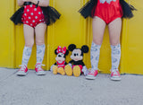 Mickey Gloves inspired Knee High Socks