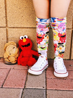 Sesame Street inspired Knee High Socks