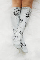 Grey Mickey Knee High Socks