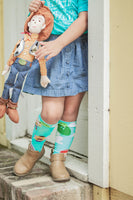 Toy Story Teal inspired Knee High Socks