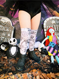 Nightmare Before Xmas Black/White Knee High Socks