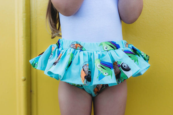 Toy Story 4 Teal Friends Bloomer Skirt