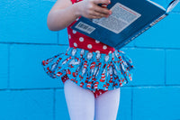 Blue Cat in the Hat Polka Dot Bloomer Skirt