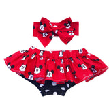 Red Mickey Heads Bloomer Skirt