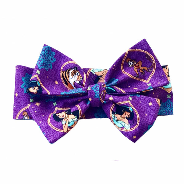 Princess Jasmine Purple Head Wrap
